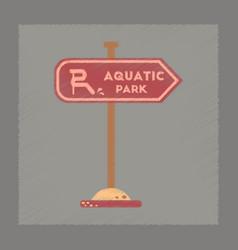 Flat shading style icon sign aquatic park vector