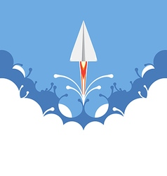 paper plane flying vector image