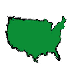 Usa country map icon vector