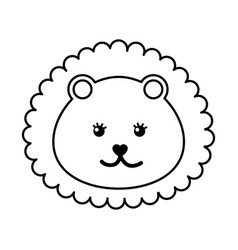 cute baby lion isolated icon vector image