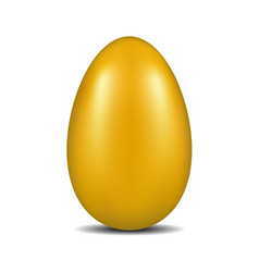 golden egg with shadow vector image