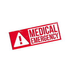 medical emergency rubber stamp vector image vector image