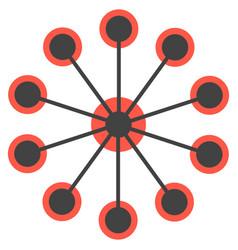 network concept circles single icon vector image vector image