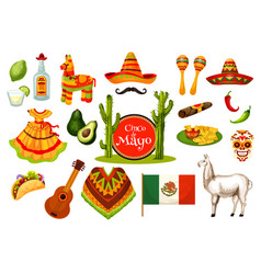 Cinco de mayo mexican fiesta party icon design vector