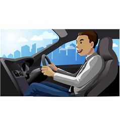 smile driver vector image
