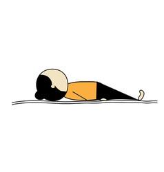 woman practicing yoga shavasana vector image vector image