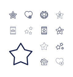 13 favorite icons vector