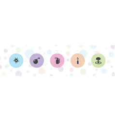 5 explode icons vector