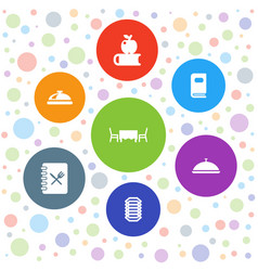 7 cover icons vector image