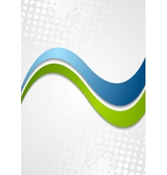 Abstract corporate wavy grunge background vector