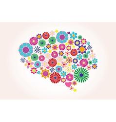 Abstract human brain creative vector