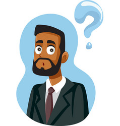 African businessman having questions vector