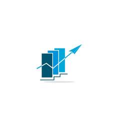 arrow progress business chart logo vector image
