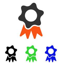 award seal flat icon vector image