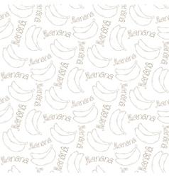 Banana pattern vector