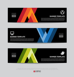 banner design for business presentation vector image