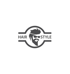 barber shop logo vector image