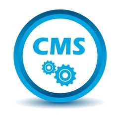 Blue cms icon vector