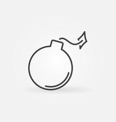 Bomb concept minimal icon in thin line vector
