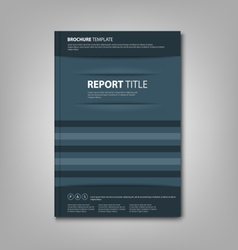 Brochures book or flyer with abstract blue pockets vector image