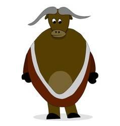 Bull yak character vector image