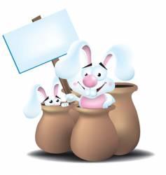 bunnies in jars vector image