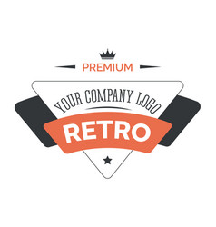 business retro isolated icon corporate identity vector image