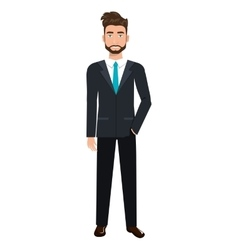 Businessman in elegant suit cartoon vector