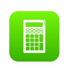 calculator icon green vector image