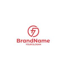 Circle f7 logo design vector