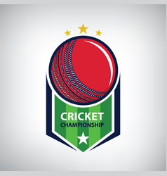 Cricket championship logo vector