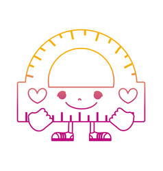 Degraded line kawaii happy conveyor with arms and vector