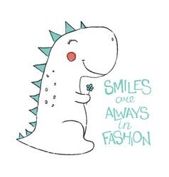 Doodle of cute dinosaur vector