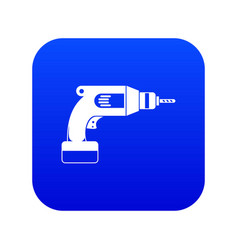 Drill icon digital blue vector