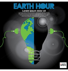 Earth Hour conceptual EPS10 vector image