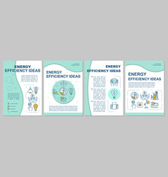 Energy saving ideas brochure template vector
