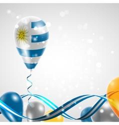 Flag of Uruguay on balloon vector image