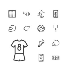 Football icons vector