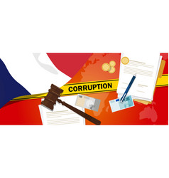 France corruption money bribery financial law vector