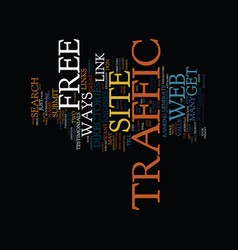 Free web site traffic ways text background word vector