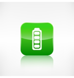 Full battery icon Application button vector image