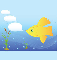 Goldfish in the sea vector