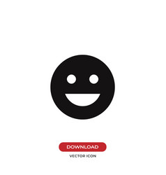 Good mood emoticon icon vector