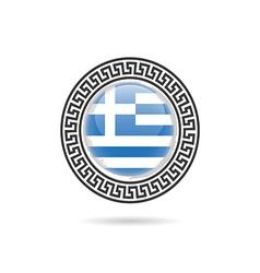 Greece flag hellas design art in colorful vector