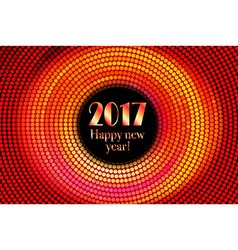 Happy new year 2017 halftone banner vector image