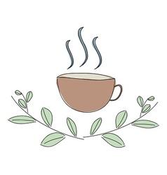 Herbal hot drink vector image vector image