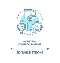 Industrial control systems concept icon vector
