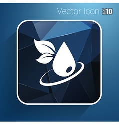 leaf icon symbol nature sign element vector image