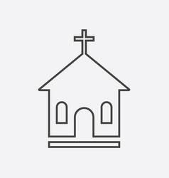 Line church sanctuary icon simple flat pictogram vector