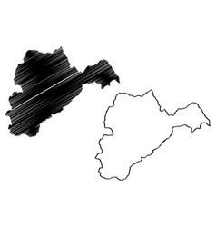 Logar province map vector